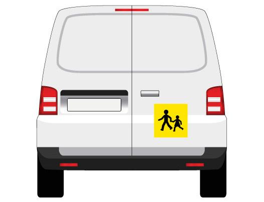 adhésif ou magnétique transport d'enfants mapubauto