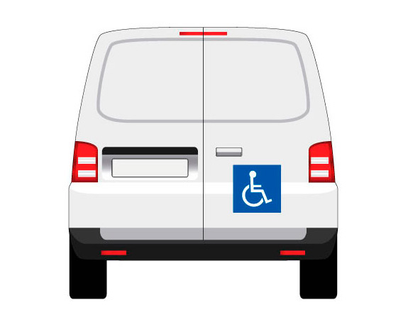 adhésif ou magnétique transport d'handicapés mapubauto