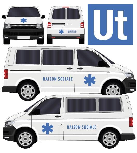 adhésifs véhicules sanitaires