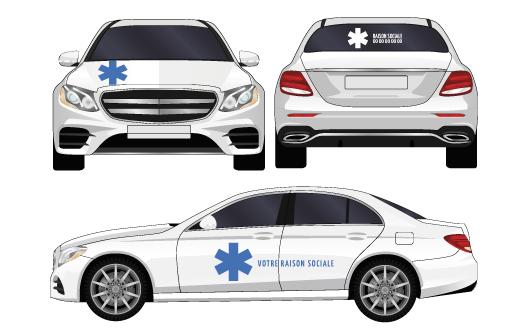 Kit ambulance adhesifs par mapubauto